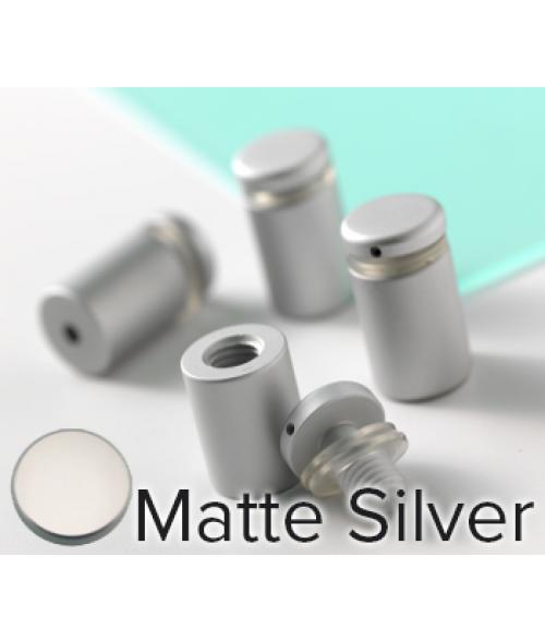 "Rowmark Dimensional Design Mount Matte Silver Stand-offs (.50"" Diameter .63"" Barrel Length)"