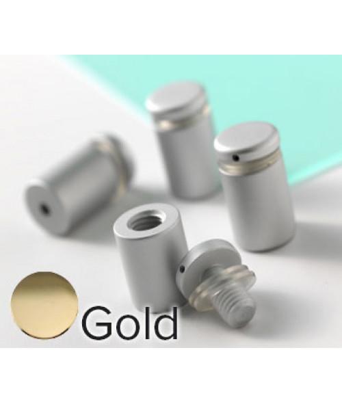 "Rowmark Dimensional Design Mount Gold Stand-offs (.625"" Diameter .75"" Barrel Length)"