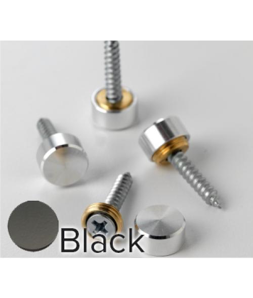 Rowmark Metro Matte Black Screw Cap (12/pkg)