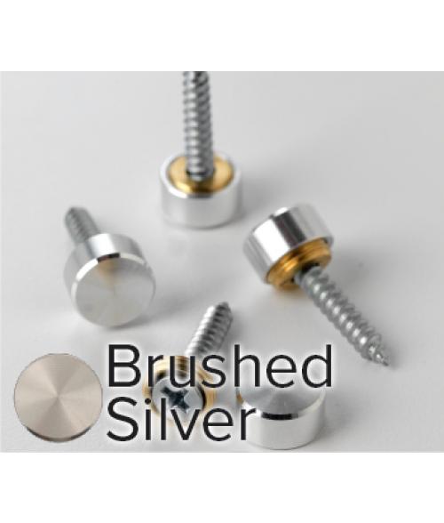 Rowmark Metro Brushed Silver Screw Cap (12/pkg)