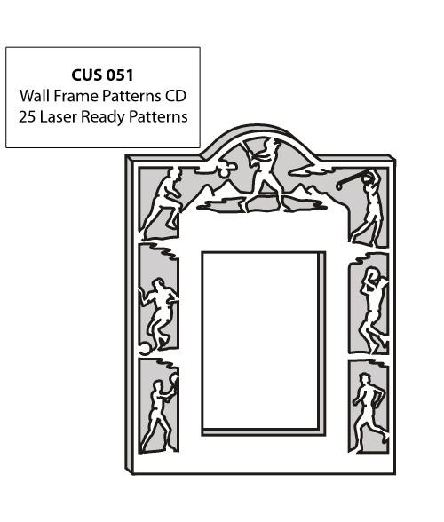 LaserBits CorelDRAW Design Patterns (Wall Frames)