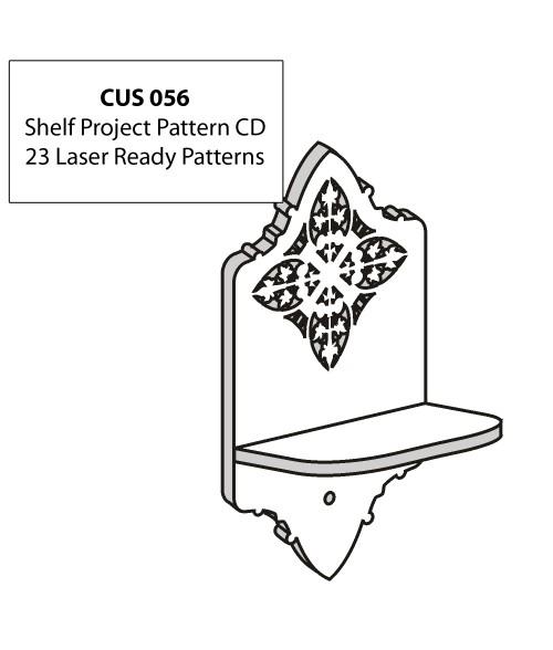 LaserBits CorelDRAW Design Patterns (Shelf Projects)