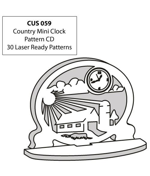 LaserBits CorelDRAW Design Patterns (Country Mini Clocks)