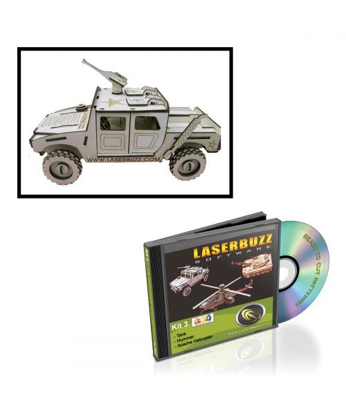 LaserBits LaserBuzz Design Patterns (3D Military Vehicles)