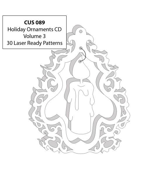 LaserBits CorelDRAW Design Patterns (Holiday Ornaments Vol 3)