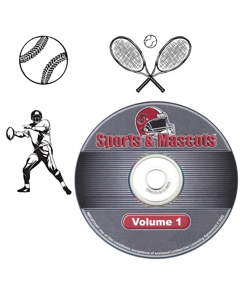 LaserBits Sports and Mascots Clip Art Library - Vol 1