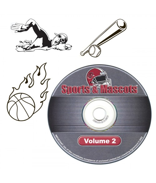 LaserBits Sports and Mascots Clip Art Library - Vol 2