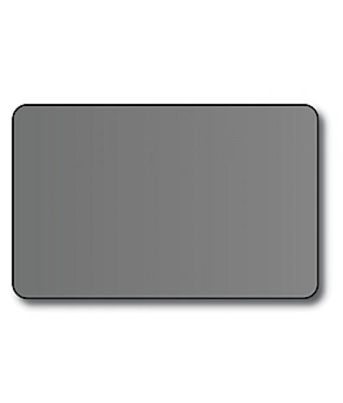 "DCS Silver CR80 .030"" Print Receptive Blank PVC Card"