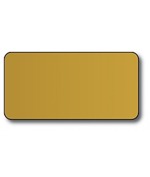 "DCS Gold 1.5"" x 3"" .060"" Print Receptive Blank PVC Card"