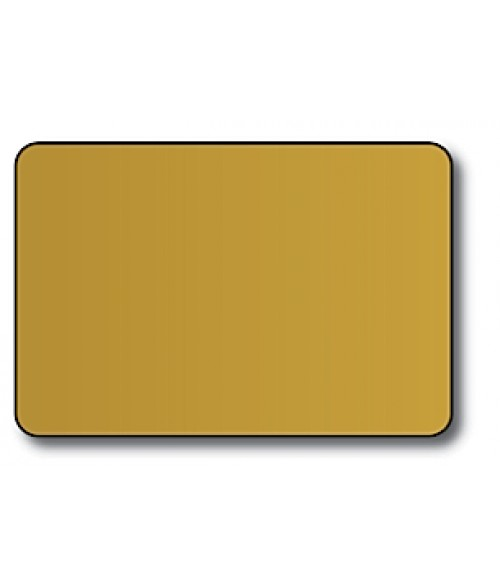 "DCS Gold 2"" x 3"" .060"" Print Receptive Blank PVC Card"