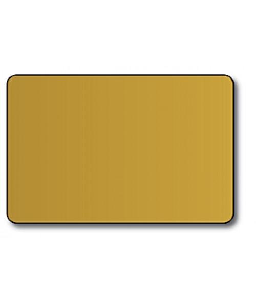 "DCS Gold 2.5"" x 3.7"" .060"" Print Receptive Blank PVC Card"