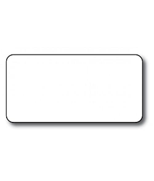"DCS White 1.5"" x 3"" .030"" Print Receptive Blank PVC Card"