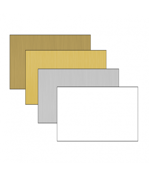 "Dynasub 12"" x 24"" 1-Sided Aluminum Sheet"