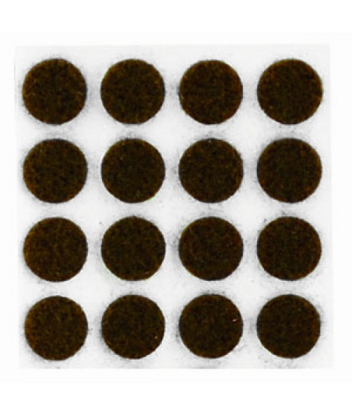 "Brown 1/2"" Round Felt Pad"