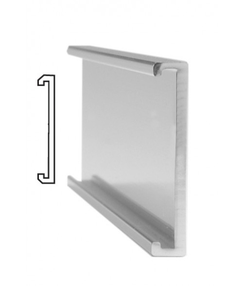 "JRS Polished Silver #103 Wall Bracket (1"" x 10"" x 1/16"" Slot)"