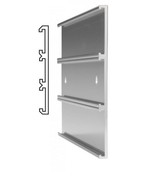 "JRS Polished Silver #106 Multiple Wall Bracket (Three 1"" x 10"" x 1/16"" Slots)"
