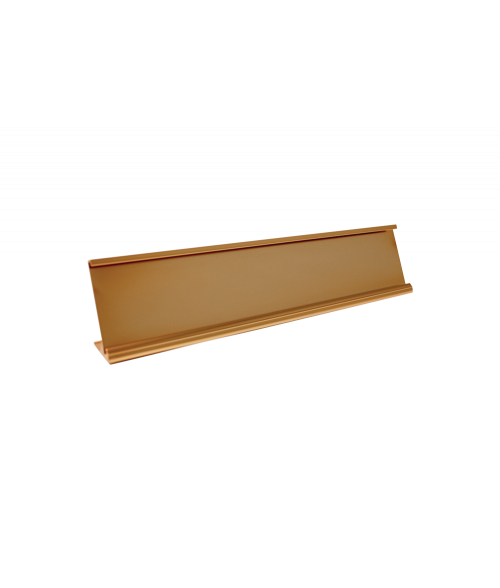 "JRS Polished Rose Gold 1-5/8"" x 8"" #14 Desk Holder for 1/16"" Thick Material"