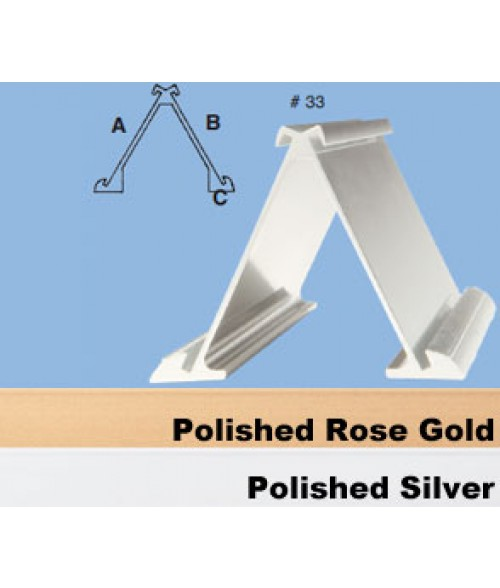 "JRS Polished Rose Gold #33 Multiple Sign Holder (Two 2"" x 8"" x 1/16"" Slots)"