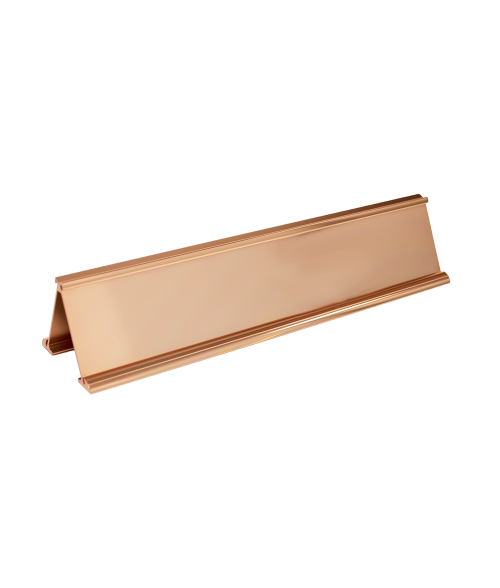 "JRS Polished Rose Gold #33 Multiple Sign Holder (Two 2"" x 10"" x 1/16"" Slots)"