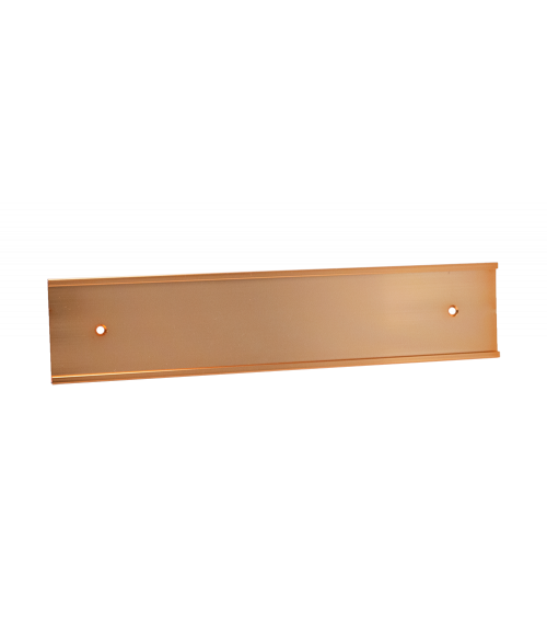"""JRS Polished Rose Gold 1-5/8"""" x 8"""" #46 Wall Holder for 1/16"""" Thick Material"""