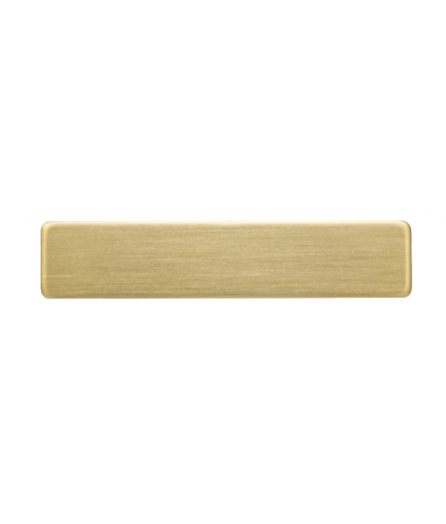 "Satin Gold 1/2"" x 2-3/8"" Premium Metal Name Tag with Clutch Back"