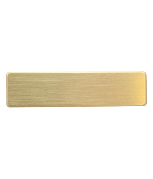 "Satin Gold 5/8"" x 2-1/2"" Premium Metal Name Tag with Clutch Back"