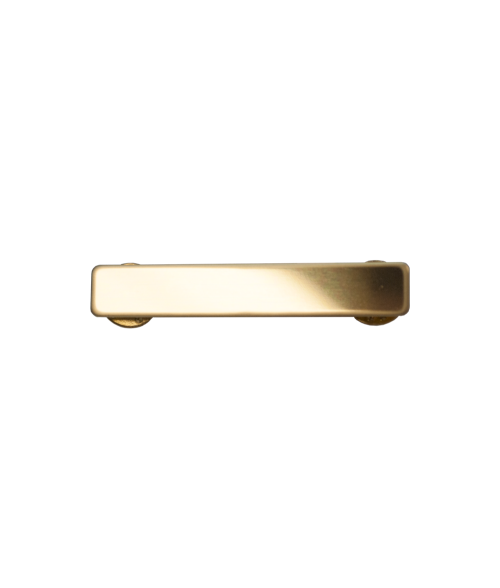"Glossy Gold 3/8"" x 2-1/4"" Premium Metal Name Tag with Clutch Back"