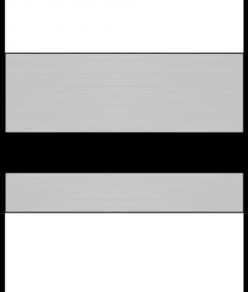 JRS Brushed Silver/Black Round Corner Plastic Insert for 7129 Holder