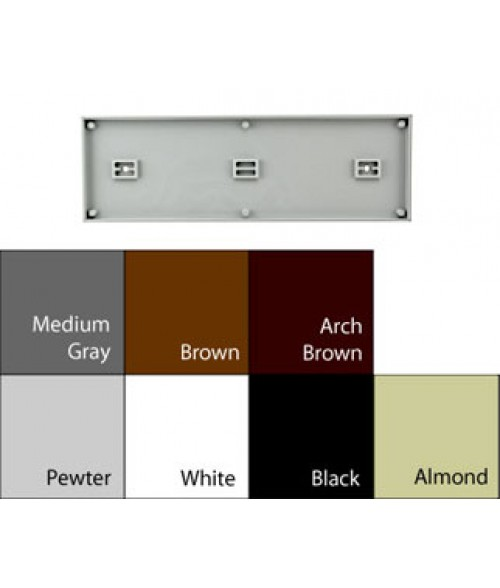 "JRS Architectural Series Black 4-1/8"" x 13-1/8"" Square Plastic Frame"