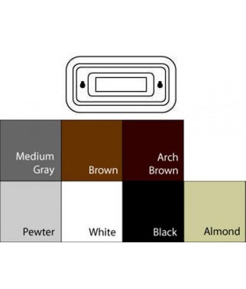 "JRS Designer Series Black 2"" x 4"" Round Plastic Frame"