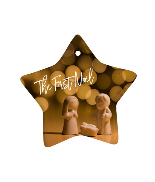 "Ceramic 3"" Star Ornament"