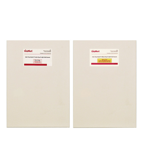 "iColor 2 Step Standard 550 'A' and 'B' Transfer Media for Light & Dark Textiles  A4 8.27"" X 11.69"""