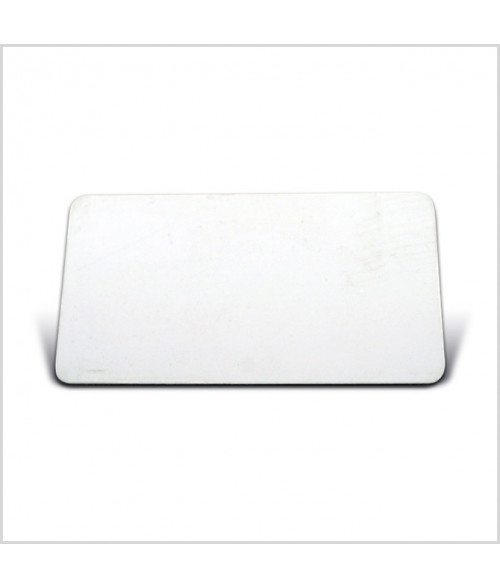 "Image Maker White 1.5"" x 2.75"" .025"" Multi-Use Aluminum Blank"