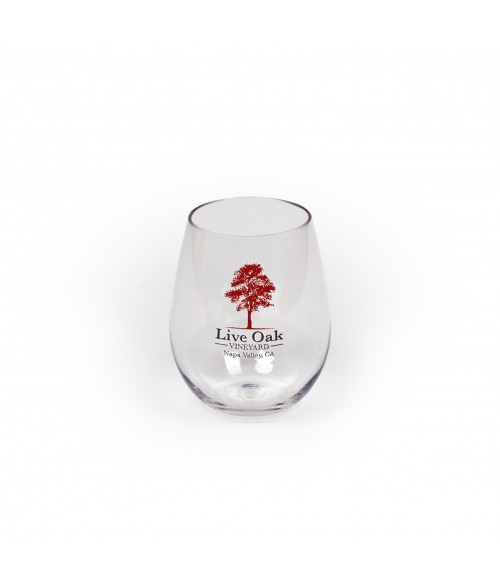 Clear 20oz Plastic Stemless Wine Cup