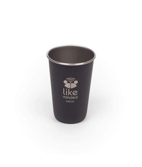 Matte Black 16oz Stainless Steel Pint Glass