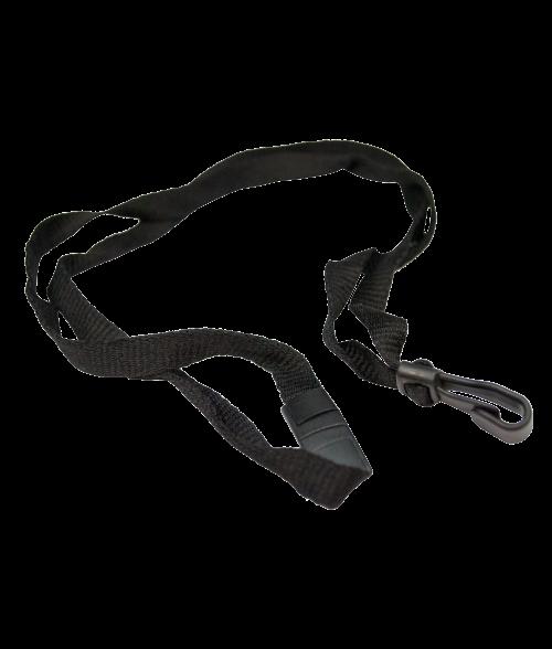 "Black 7/16"" x 35"" Breakaway Lanyard with Plastic Hook"