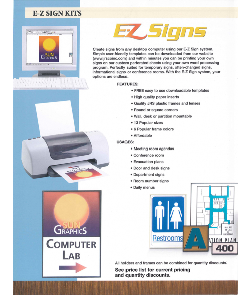 JRS E-Z Sign Sales Brochure