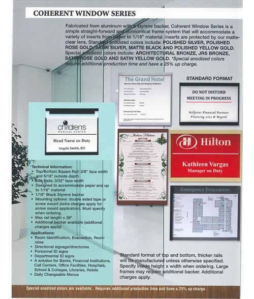 JRS Coherent Window Series Sales Brochure