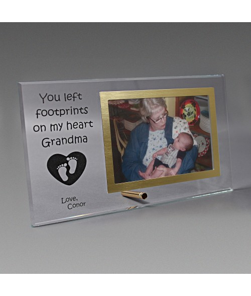 "11"" x 6"" Glass Photo Frame (Holds 4"" x 6"" Horizontal Photo)"