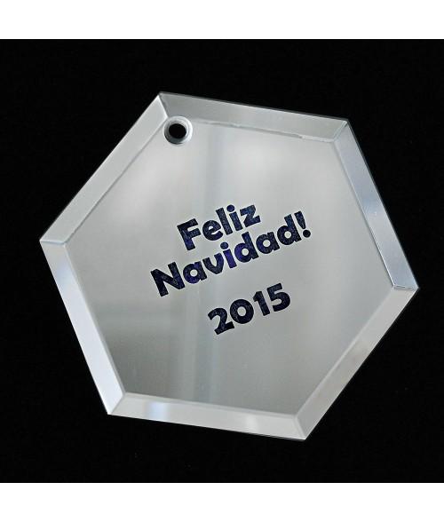 Hexagon Glass Mirror Ornament