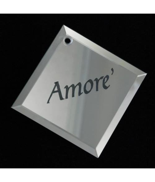 Square Glass Mirror Ornament