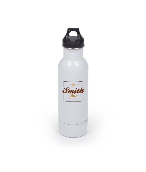 White 12oz Metal Bottle Insulator