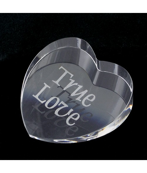 Heart Crystal Paperweight