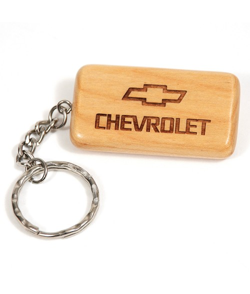 Maple Rectangle Keychain