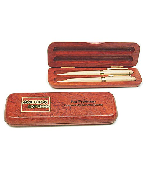 Rosewood Double Pen Box