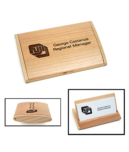 Maple Arched Business Card Holder