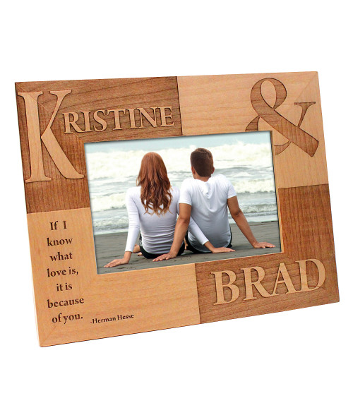 "Alder Wood 7-1/4"" x 9-1/4"" Photo Frame (Holds 4"" x 6"" Photo)"