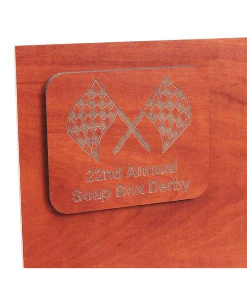 "Duro Laser Faux Cherry 1/8"" Wood Sheet"