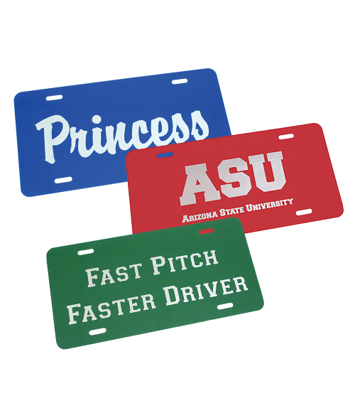 Gloss Laserable License Plate