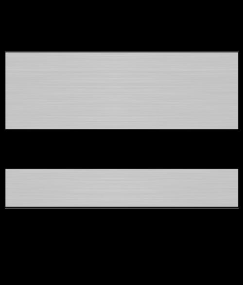 Rowmark LaserMag Brushed Silver/Black Magnetic Sheet